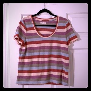 Madewell Striped Scoop Tee